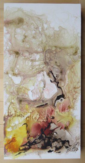 Fleurs d'Orient (54cm x 27cm) acrylique sur toile $340