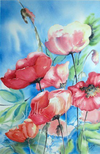 Colline fleurie (54cm x 37cm) $465